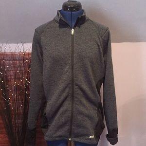 Avis Steel Gray Zip Up Sweatshirt